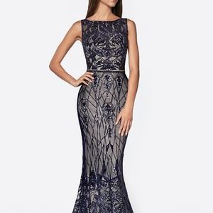 SHEATH GLITTER BEADED EVENING PARTY DRESS CDCB0026
